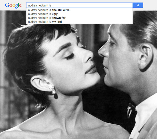 Google results for Audrey Hepburn