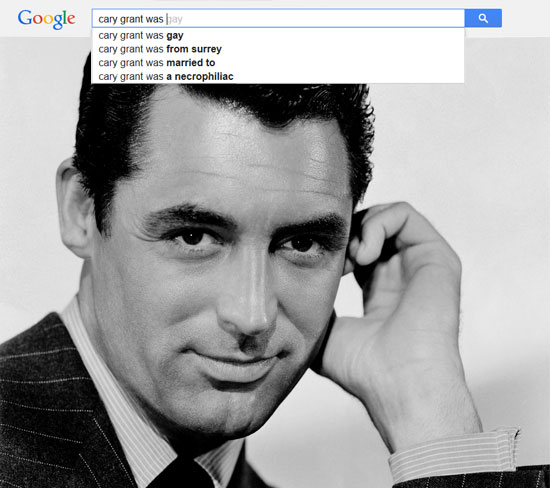 Google results for Cary Grant