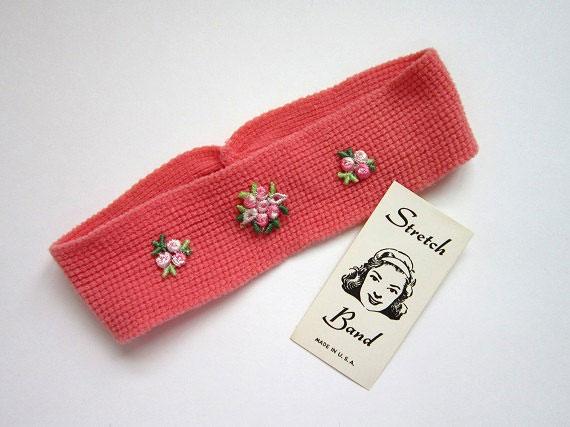 Vintage 1950s Stretch Headband