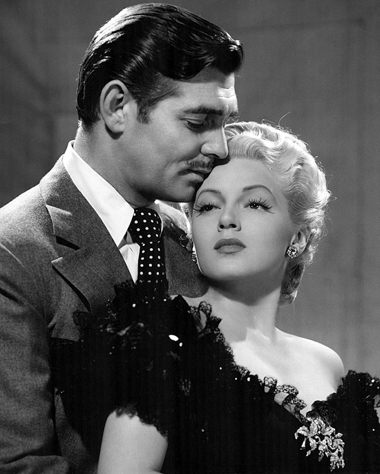 Original publicity photo of Clark Gable and Lana Turner for film Honky Tonk, 1941