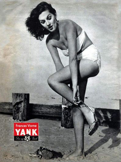 WW2 Pin-Up in Yank Magazine: Frances Vorne