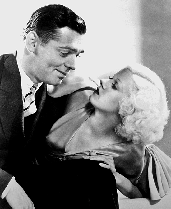 Publicity photo of Clark Gable and Jean Harlow in Hold Your Man (1933).