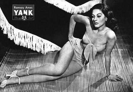 WW2 Pin-Up in Yank Magazine: Ramsay Ames