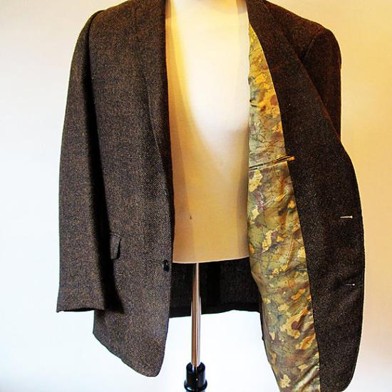 1960s Brown Mens Wool Blazer