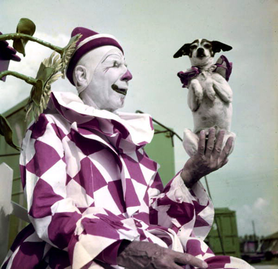 Scary vintage clowns
