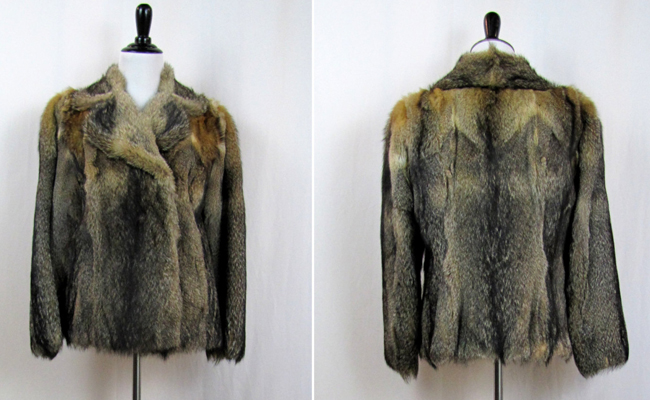1970s  Genuine Fox Fur Half Coat