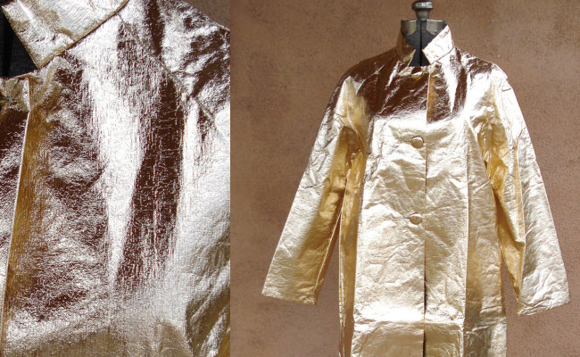 Vintage 1960s Gold Metallic Coat