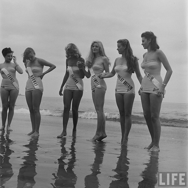 Contestants at Miss Universe Beauty Pageant 1952