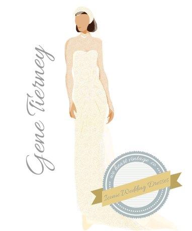 Iconic Wedding Dresses #7: Gene Tierney (1946)