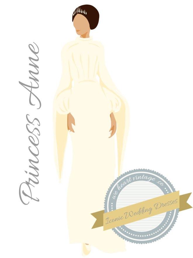 Princess Anne's wedding dress