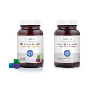漢麻素CBD方塊軟糖日間配方+夜間睡眠配方 30入x2 每顆45mg