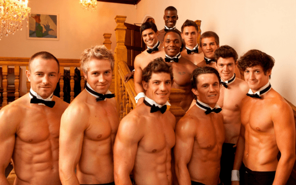 Sexy buff party guys