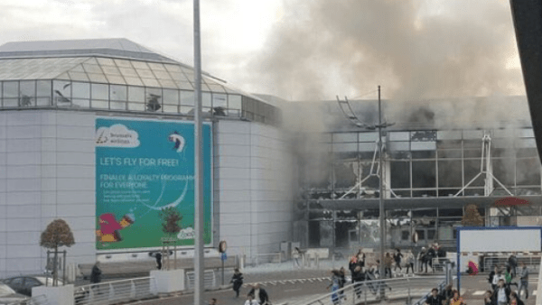 The aftermath at the Brussels airport