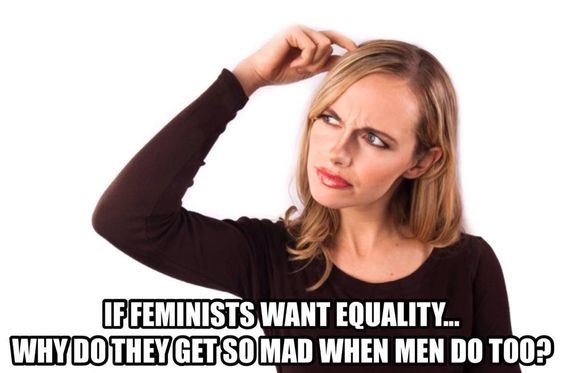 Uh, MRA meme-makers, I don't think that's how equality works.