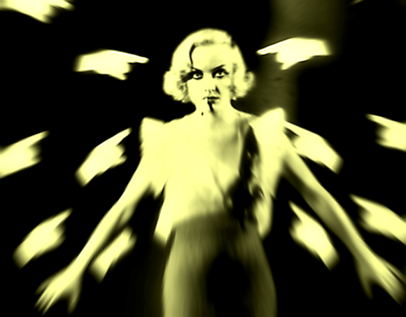 Carole Lombard as the Targeted Woman