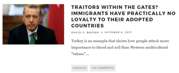 TRAITORS WITHIN THE GATES? IMMIGRANTS HAVE PRACTICALLY NO LOYALTY TO THEIR ADOPTED COUNTRIES