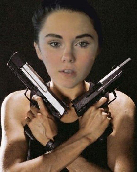 Daisy loves her guns