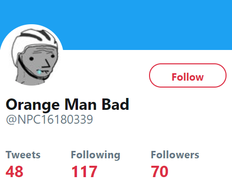 Orange Man Bad @NPC16180339