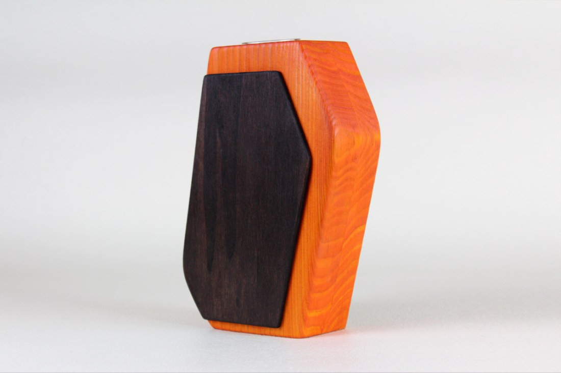 Wood Vase Orange Brown / Holzvase / Weibach2 / Oliver Neumann