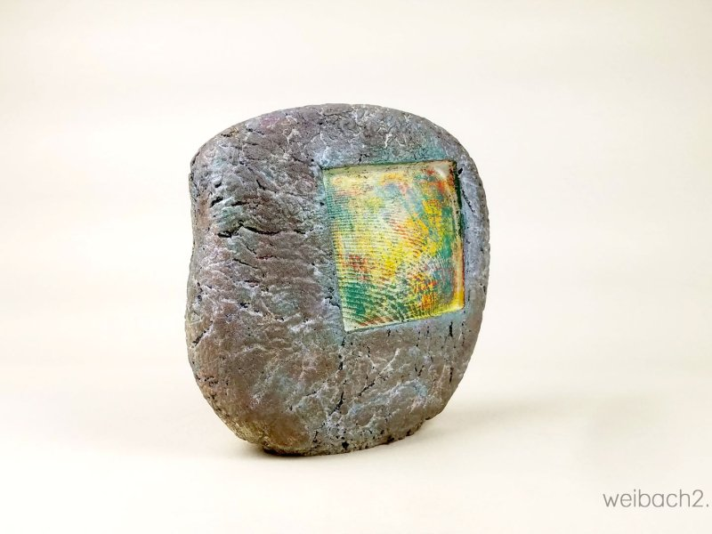 Cast Stone No 3 - Abstract sculpture by Weibach2