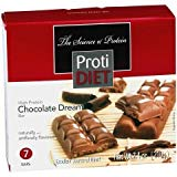 ProtiDiet - High Protein Diet Bar | Chocolate Dream | Low Calorie, Low Carb, Aspartame Free ( 7/Box )