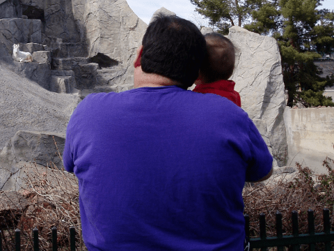 My son & me at the Denver Zoo