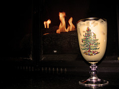 Eggnog Roasting by an Open Fire