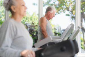old couple working out