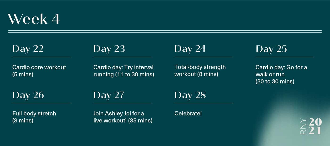 Week-long home fitness plan for beginners