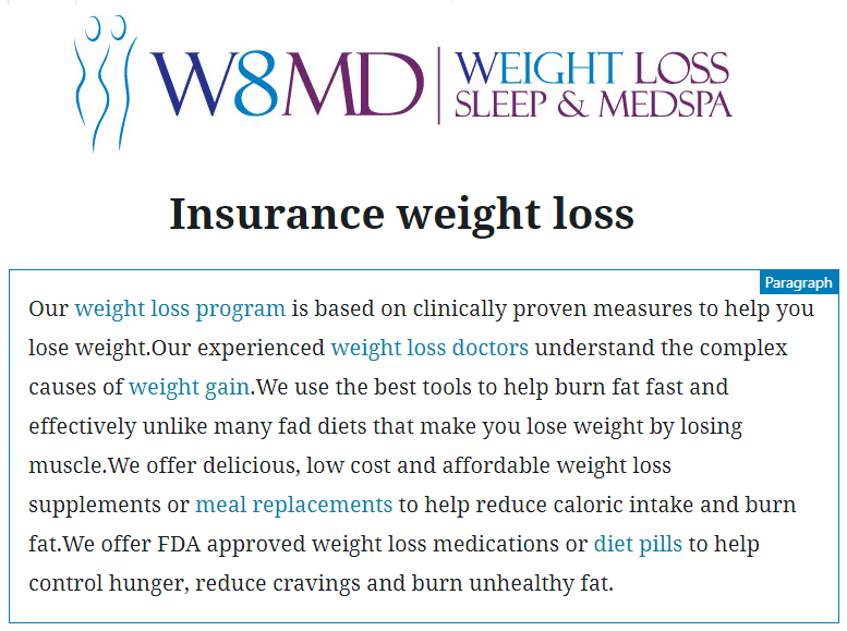 W8MD's insurance weight loss