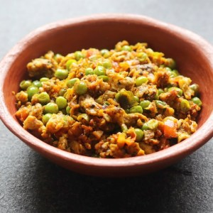 Mutta Peas - Egg & Green Peas Scrambled - Healthy High Protein Snacks | Skinny Recipes