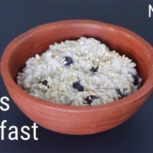 Oats Breakfast Recipe - No Sugar | No Milk | No Oil - Oats Recipes For Weight Loss | Skinny Recipes