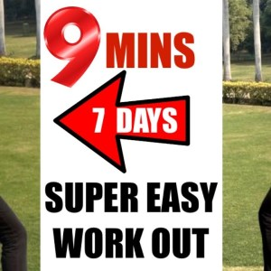 9 Mins Full Body Workout To Lose Weight Fast - Easy Exercises To Lose Weight For Beginners At Home