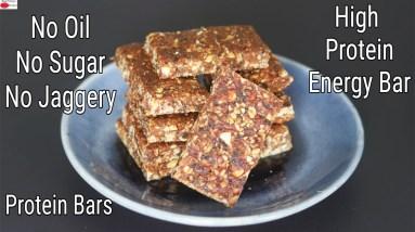 Energy Bar Recipe - Weight Loss High Protein Bars - Dry Fruits Oats Granola Bars | Skinny Recipes