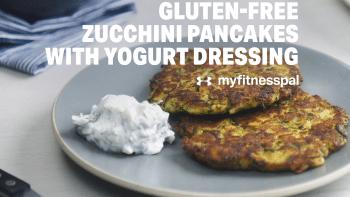 Gluten-Free Zucchini Pancakes with Yogurt Dressing