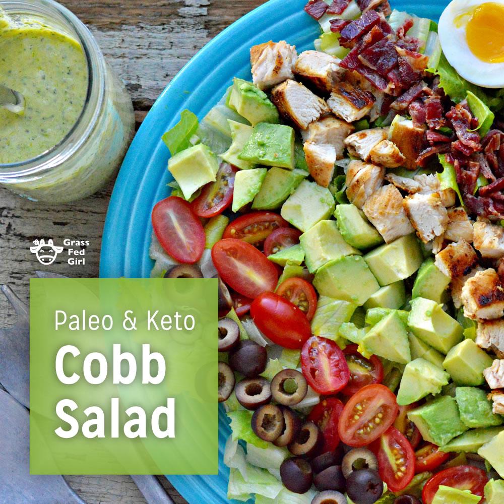 Keto Cobb Salad with Green Goddess Dressing Recipe