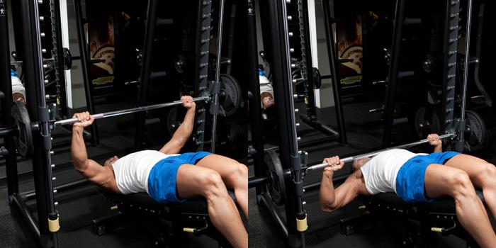 Decline Smith Machine Bench Press Weight Training