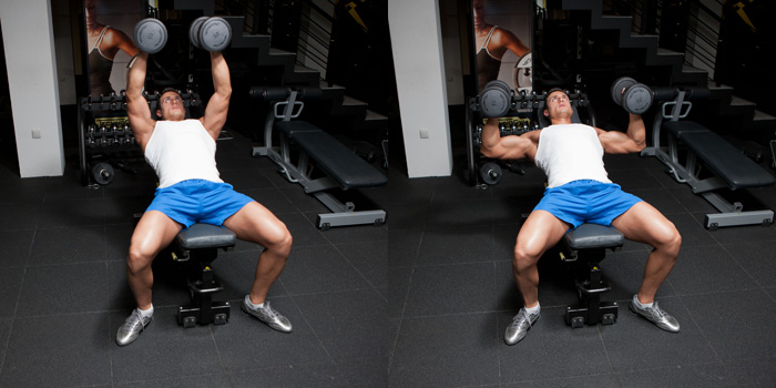 Hammer Grip Incline Dumbbell Bench Press Weight Training