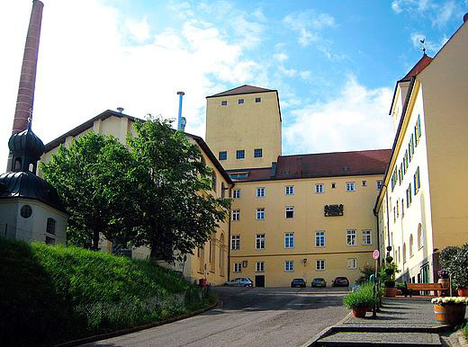 La fábrica de Weihenstephan en Freising, hogar de las cervezas Weihenstephaner