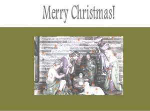 Weihnachten Karte kostenlos, Christmas Card, Englisch