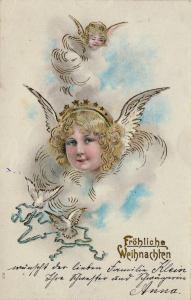 Weihnachtskarte: Engel 1905