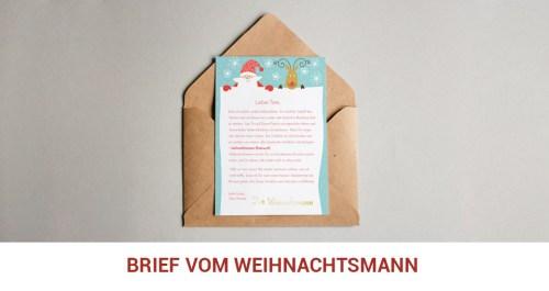 Brief vom Weihnachtsmann bestellen