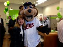 Lisa at a recent ribbon cutting for the Woodbury Chamber. She has been a chamber member for five years.