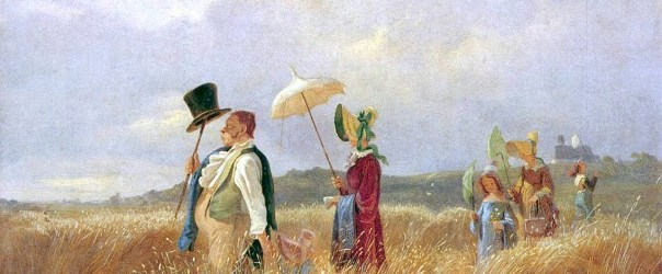 Carl Spitzweg – Der Sonntagsspaziergang, Author died more than 100 years ago public domain images, CC-PD-Mark,
