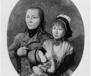 Schinderhannes und Julchen mit ihrem gemeinsamen Kind, Foto: By K. H. Ernst [Public domain], via Wikimedia Commons