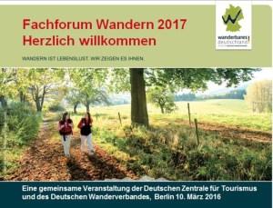 Fachforum Wandern in Berlin, Foto: DWV