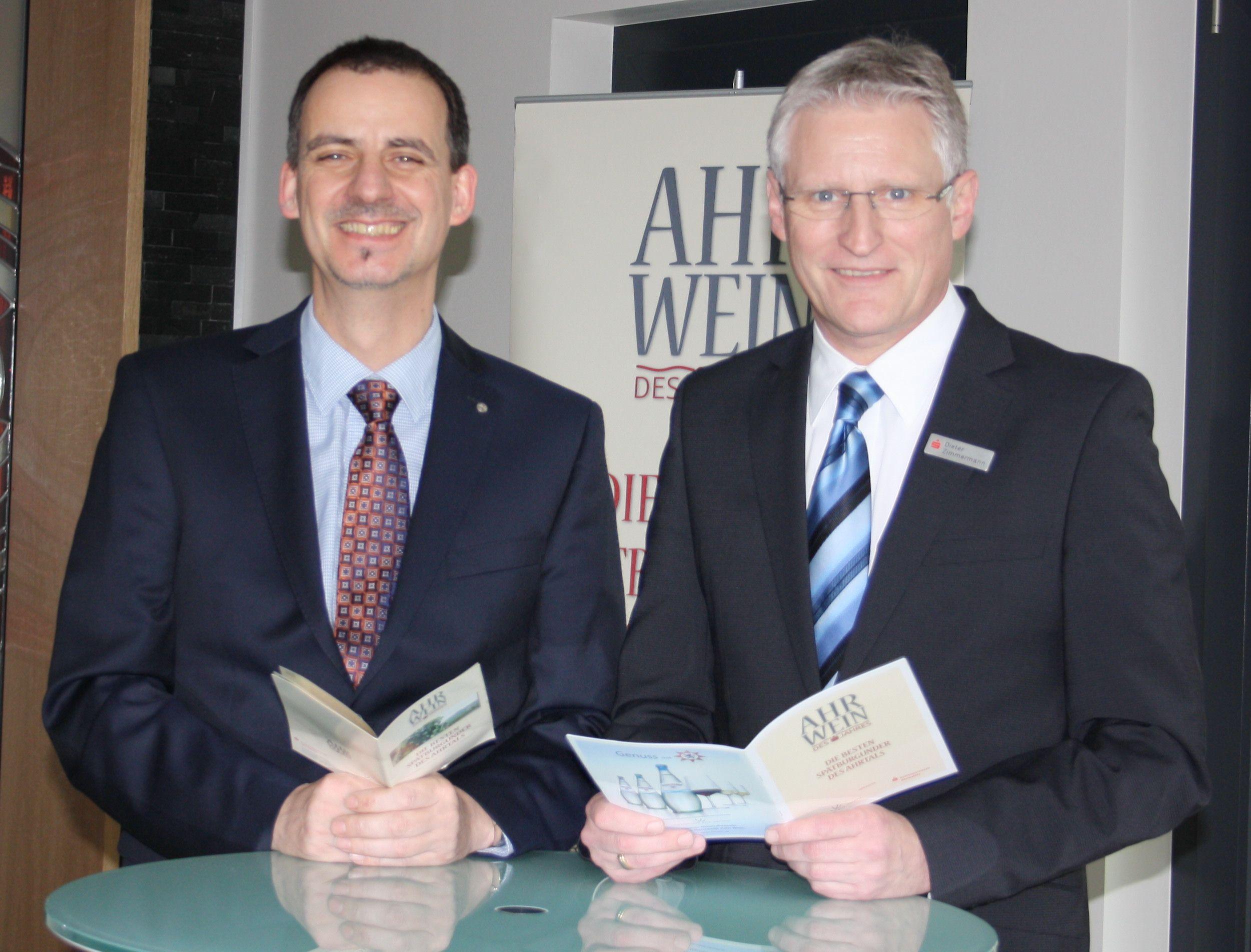 Alexander Kohnen, International Wine Institute und Dieter Zimmermann, Vorstand Kreissparkasse Ahrweiler