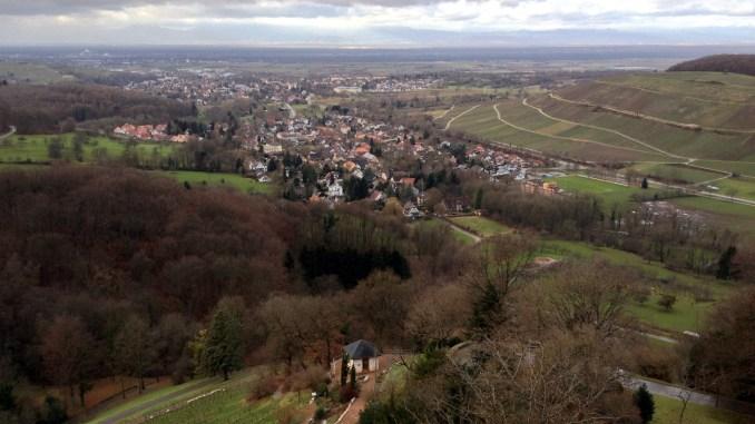 Baden: Weinberge bei Badenweiler mit Blick auf die Vogesen