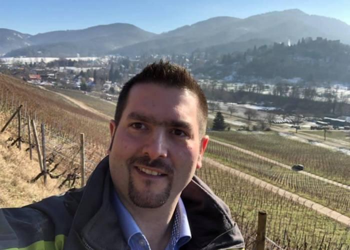 Alexander Ultes im Badenweiler Römerberg