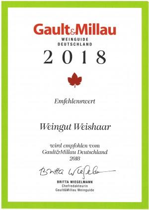 Gault Millau 2018_Weingut Weishaar